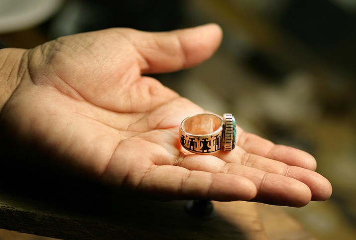 A member of the Yavapai-Apache Nation, Jerry Whagado learned silversmithing on the Hopi reservation before he returned to the Nation's Middle Verde community about 25 years ago. VVN/Bill Helm