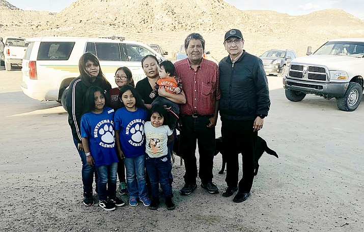 Navajo Nation President Jonathan Nez gives his condolences to the family of Anndine Jones. (Photo/Office of the President and Vice President)