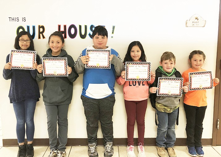 April Students of the Month include Xela Amarillento, Evanie Curry, Joey Paredes, Angie Hernandez, Ladigo Reidhead and Joslin Uebel. (Photo/WEMS)
