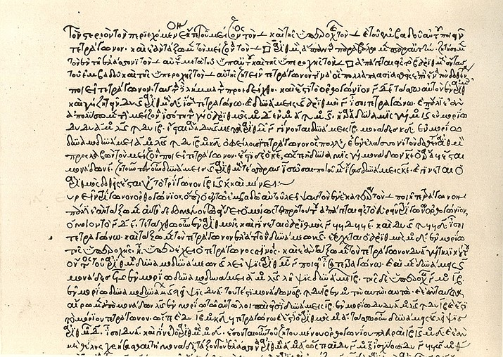 A snippet of 'Arithmetica,' from Diophantus from around 1296. (Wikimedia)