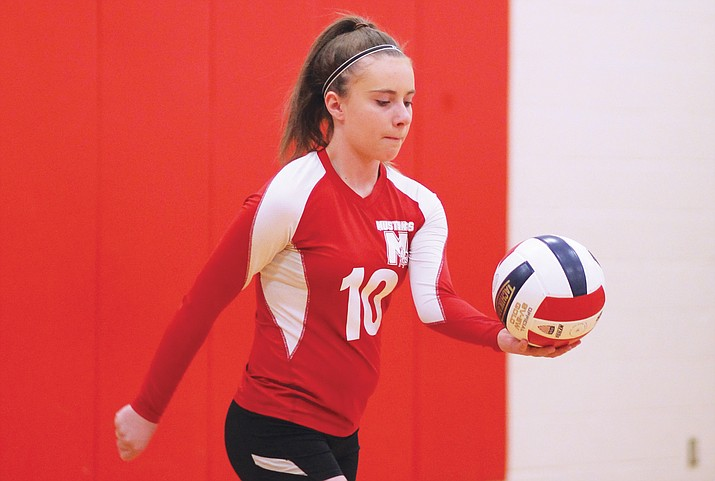 On April 6, Maine Consolidated School and Williams Elementary-Middle School volleyball teams competed in games at Grand Canyon School. (Erin Ford/WGCN)