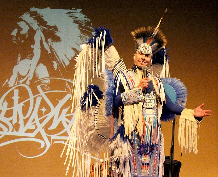 Native American rap artist, Supaman performs in front a festival crowd. (Supaman/Courtesy)