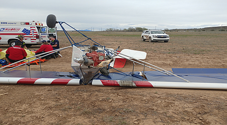 "An ""ultralight"" aircraft built by a Dewey man and his son crashed in Paulden, injuring the sole occupant, Thursday afternoon, April 11."