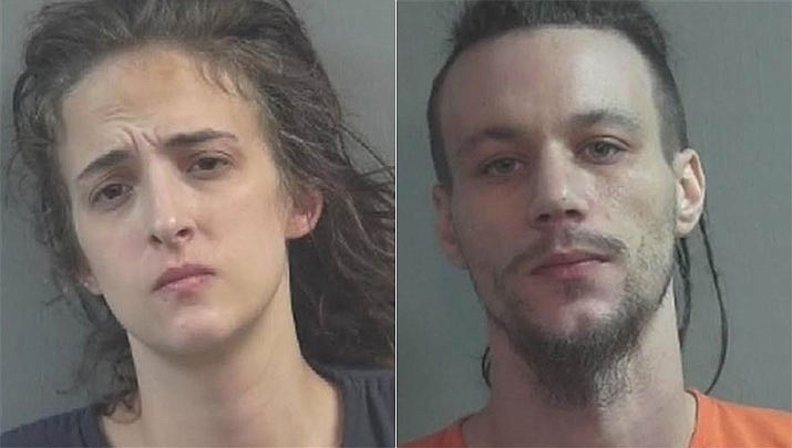 Police say Rachel Sharrock and Bo Cosens made laxative-laced cookies for striking school employees because they were tired of the noise from the picket line near their home. (Uhrichsville Police)