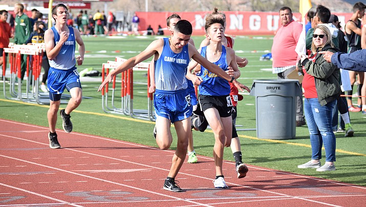 Camp Verde track and field battles elements at Mingus