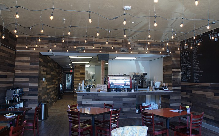 Renovation work is wrapping up at Cuppers Coffee House's new location at 224 S. Montezuma St. The business, which is relocating from its former longtime spot on Cortez Street, is expected to re-open at the new site this weekend. (Cindy Barks/Courier)