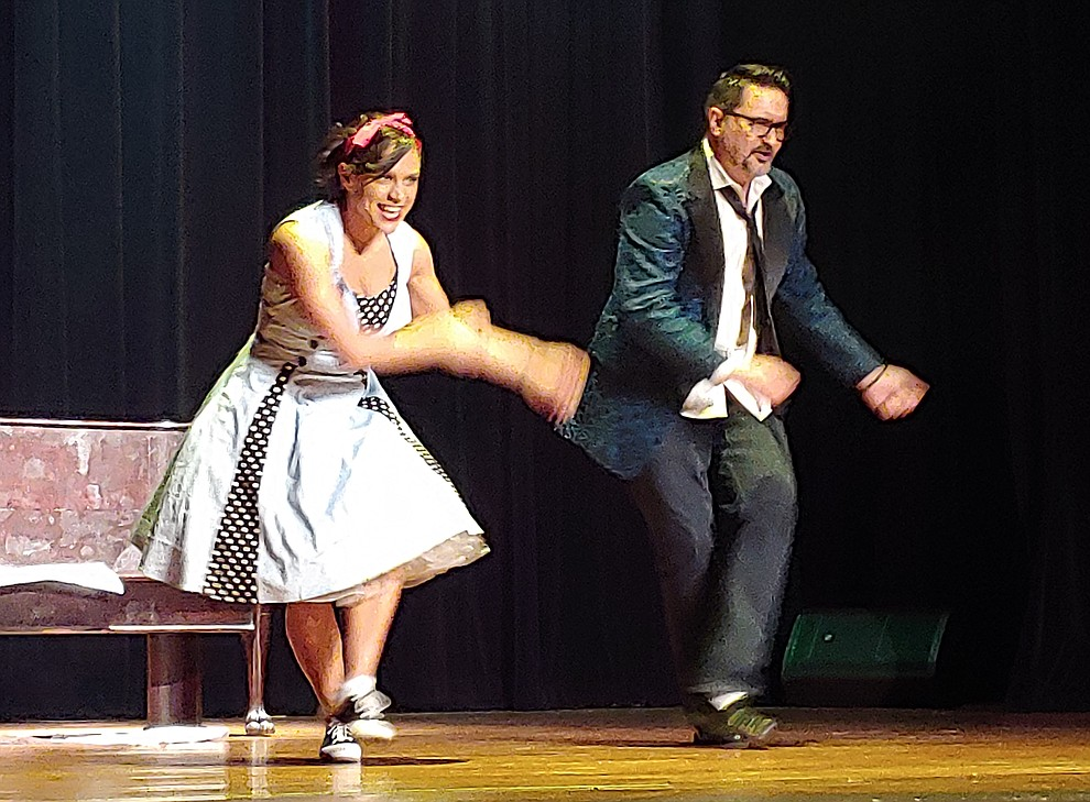Barry Barbe and Kelsey Claire perform during the 2019 Dancing for the Stars matinee performance Saturday, April 13 at the Elks Theatre in Prescott.  (Sue Tone/Courier)