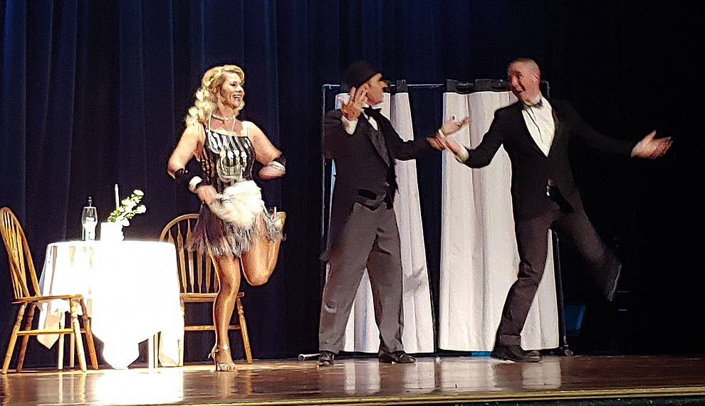 Judd Simmons and Marina Rogova-O'Brien perform during the 2019 Dancing for the Stars matinee performance Saturday, April 13 at the Elks Theatre in Prescott.  (Sue Tone/Courier)