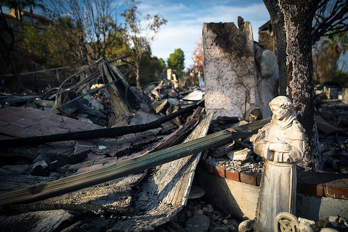 """Damage after the Woolsey Fire, California, November 17, 2018. A McClatchy analysis reveals more than 350,000 Californians live in towns and cities that exist almost entirely within """"very high fire hazard severity zones."""" (Photo courtesy of Peter Buschmann via U.S. Forest Service)"""