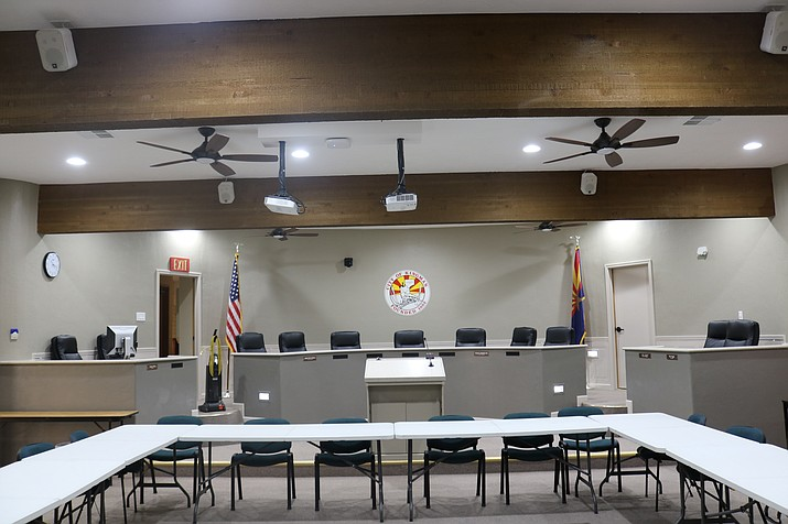 The City will hold a ribbon cutting for the newly-remodeled Council chambers at 5:15 p.m. at 310 N. Fourth St. before business begins. Tuesday's meeting marks the first back in Council chambers in about two years. (Daily Miner file photo)