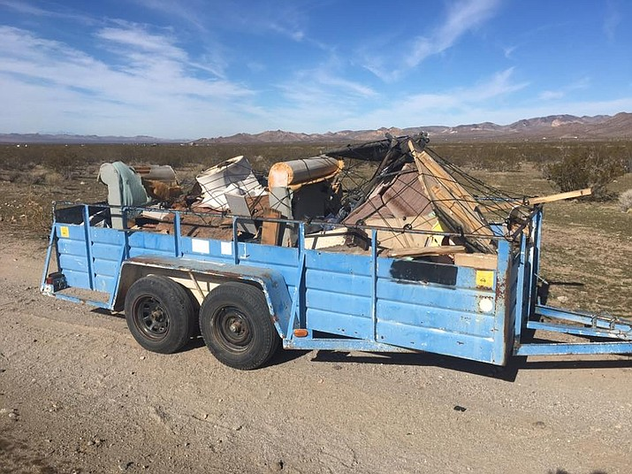Dolan Springs Cactus Cleaners at work. (Photo courtesy William Terwilliger)