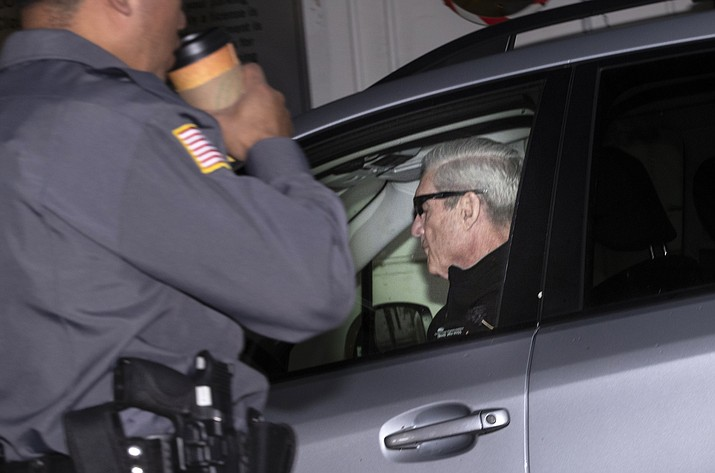 "Special counsel Robert Mueller arrives at his office in Washington, Monday, April 15, 2019. Attorney General William Barr told Congress last week he expects to release his redacted version of the special counsel's Trump-Russia investigation report ""within a week."" (J. Scott Applewhite/AP)"