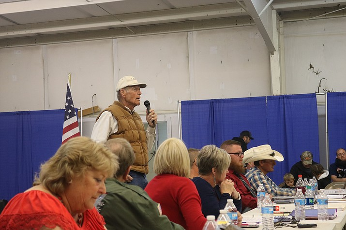 "Mohave County Supervisor Gary Watson told those in attendance at last Wednesday's Mohave County Fair Association board meeting that there is one supervisor ""that doesn't want Mohave fairgrounds successful here in Kingman."" (Photo by Travis Rains/Daily Miner)"