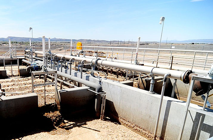 The Chino Valley Wastewater Treatment Facility on Rodeo Road in the Old Home Manor area. The Chino Valley Town Council has reduced the fees for wastewater again. (Les Stukenberg/Review, file)