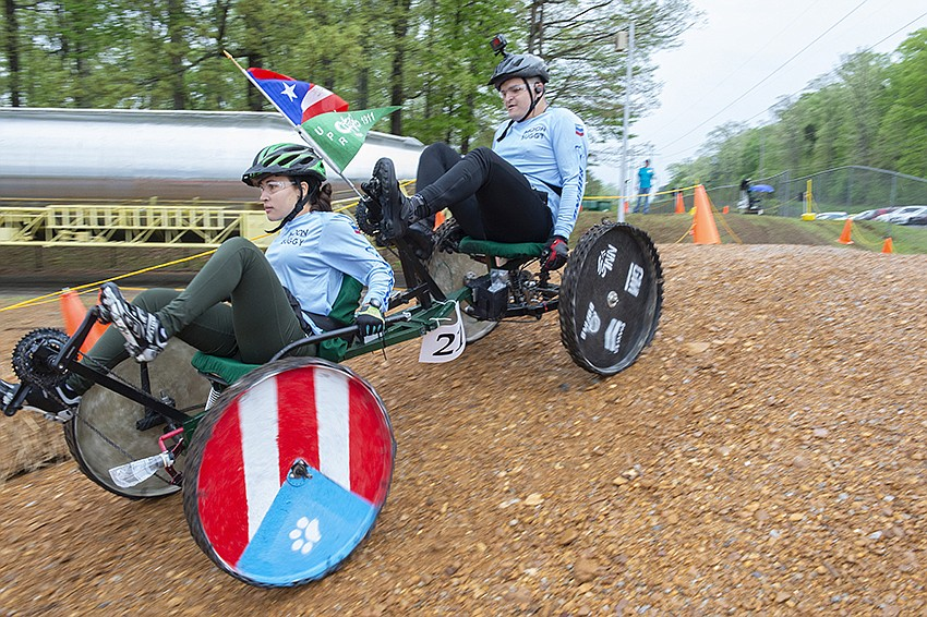 University of Puerto Rico Mayagüez - Team 1 won first place in the college/university division of the 2019 NASA Human Exploration Rover Challenge. Credits: NASA/MSFC/Emmett Given