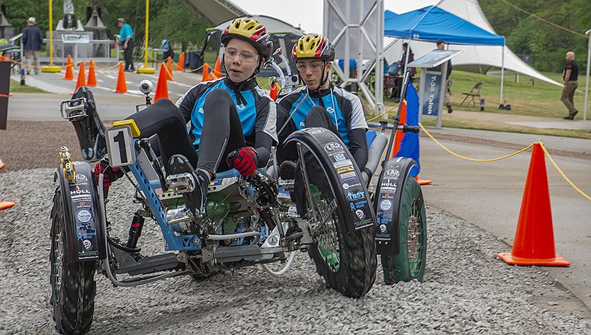 The International Space Education Institute of Leipzig, Germany, won first place in the high school division of the 2019 NASA Human Exploration Rover Challenge. Credits: NASA/MSFC/Emmett Given