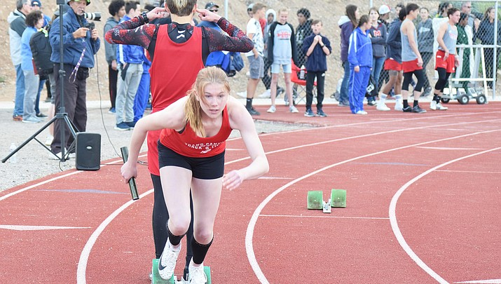 Running strong: Grand Canyon track competes at Mingus High School