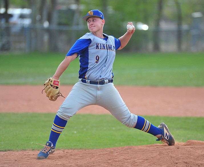 Kingman's Rilee Araya threw a five-hit shutout with nine strikeouts Monday as the Bulldogs cruised to a 4-0 win at Chino Valley. (Photo by Les Stukenberg/Daily Courier)