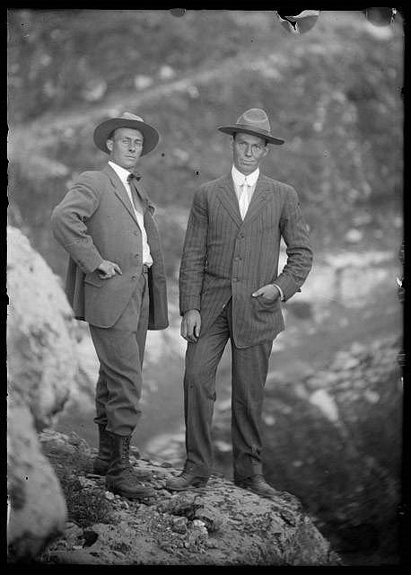 Emery Kolb (left) arrived at the Grand Canyon in 1902 at the request of his older brother Ellsworth (right). After many adventures, he died there in 1976. (Photo/Grand Canyon National Park Museum Collection)