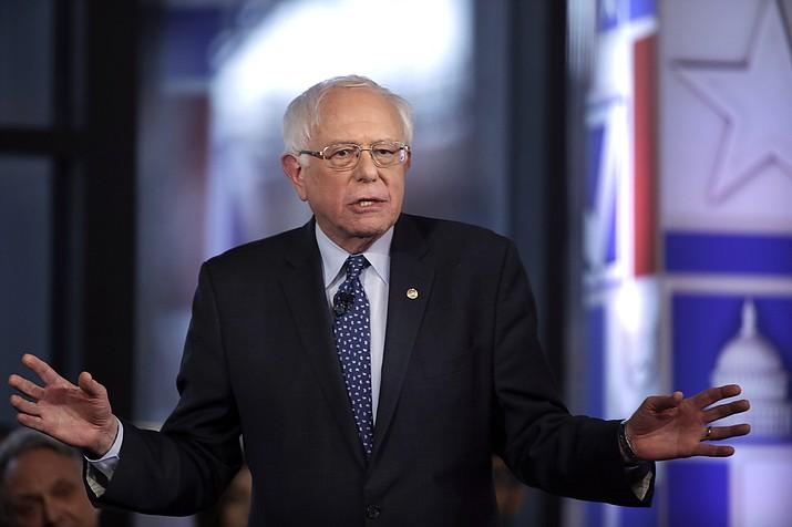 Sen. Bernie Sanders speaks during a Fox News town-hall style event Monday April 15, 2019, in Bethlehem, Pa. (Matt Rourke/AP)