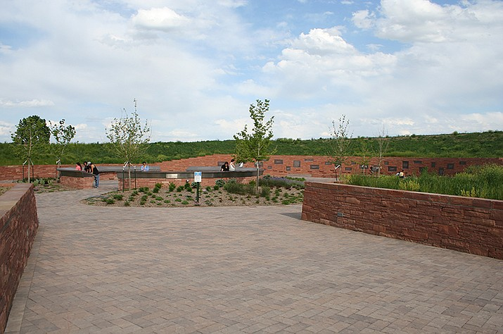 The Columbine Memorial in Littleton, Colorado. The Columbine shooting shocked the county April 20, 1999, and to this day carries a heavy weight with survivors and police responders. (Photo by Denverjeffrey [CC BY 3.0])