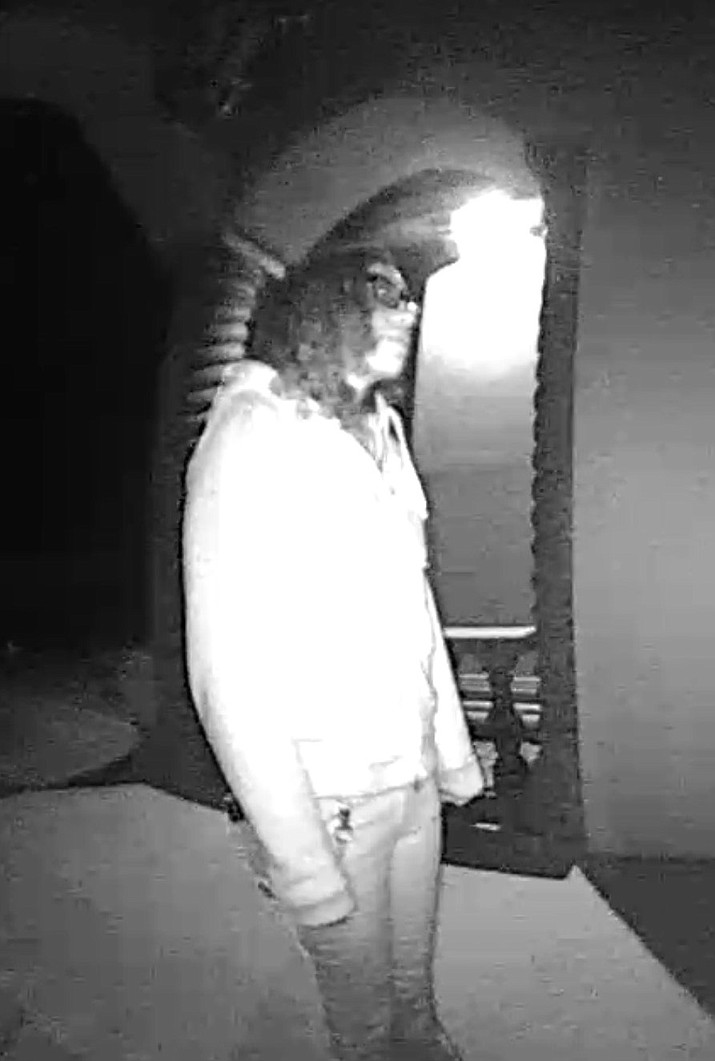 The Mohave County Sheriff's Office is seeking the public's help identifying a person of interest in this active burglary case out of Mohave Valley. (Photo provided by MCSO)