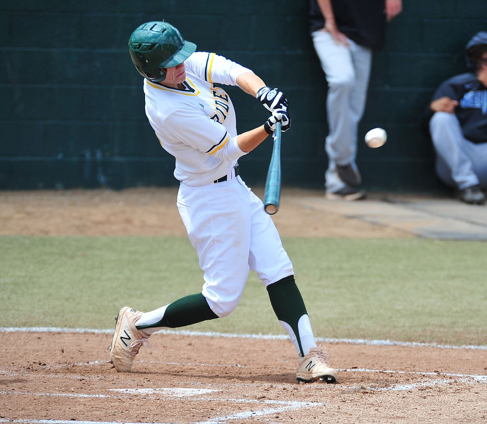Yavapai's XXX as the Roughriders take on Gateway Community College Wednesday, April 17 at in Prescott.  (Les Stukenberg/Courier)
