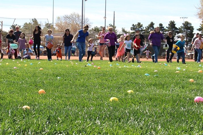 Families looking for the eggs the Easter bunny left can do so by going to Centennial Park on Saturday, April 20. (Daily Miner file photo)