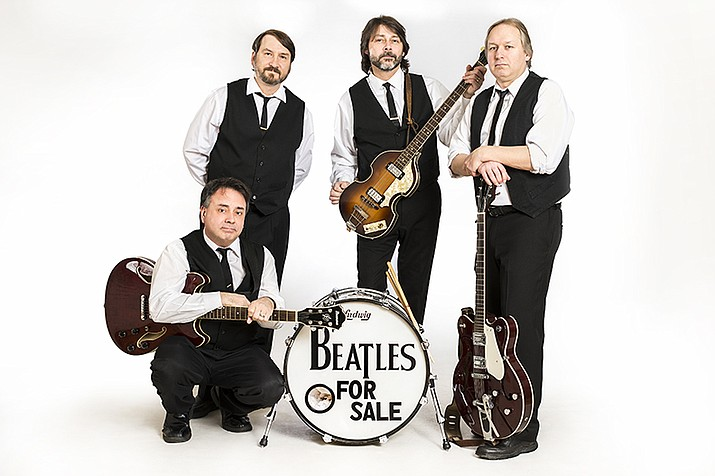 Beatles for Sale, which formed in 2007, take on the Surfin' the Beach Boys tribute band at Concert for a Cause on Saturday, April 20. (Courtesy)