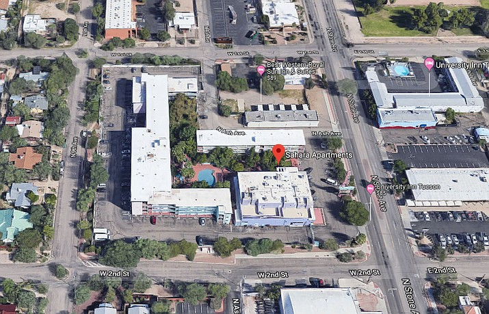 The Arizona attorney general's office said in a news release Wednesday that the owners of Sahara Apartments in Tucson have agreed to revise their rental policy. They will also pay a $2,000 civil penalty. (Google Maps screenshot)