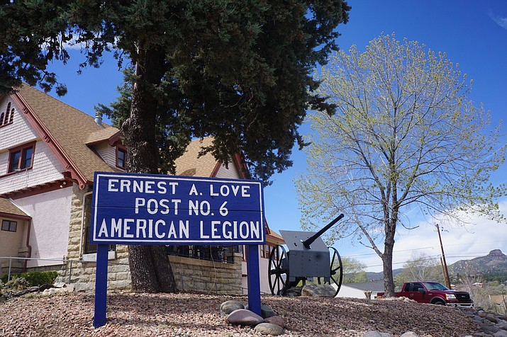 Prescott's Ernest A. Love American Legion Post 6 has been at its current site on Pleasant Street for nearly 90 years. The building, which dates to the early 1900s, was purchased by the post in about 1930. (Cindy Barks/Courier)