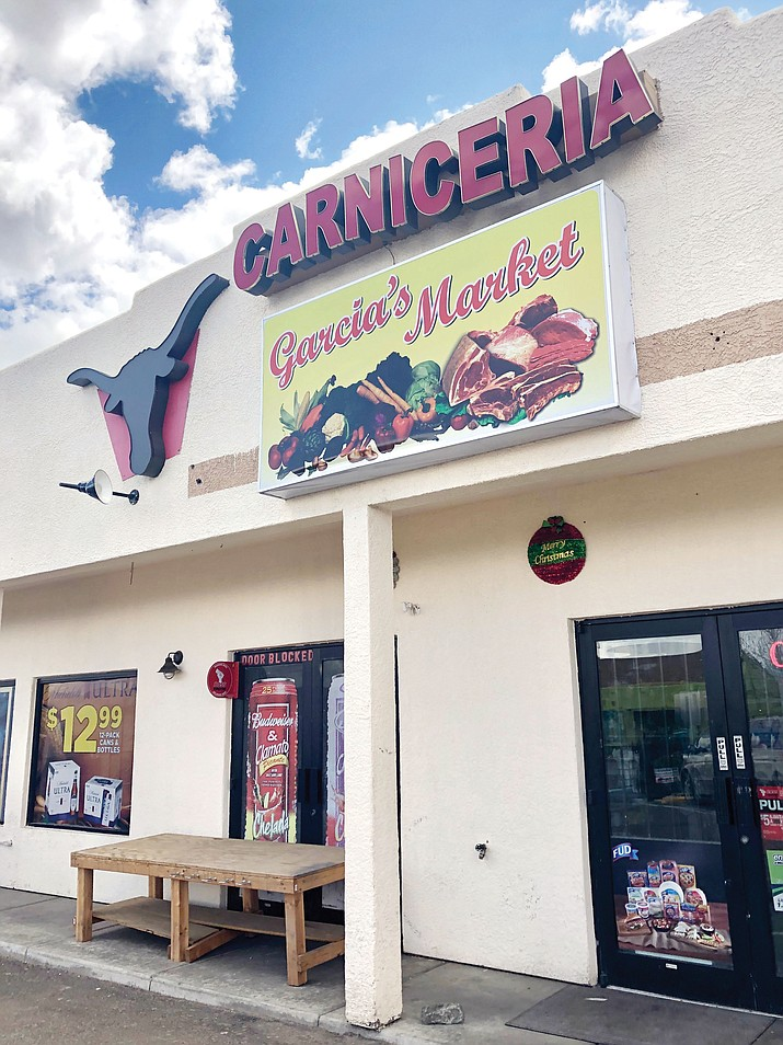 Garcia's Market in Prescott Valley recently changed hands, and new owners Norma Rangel and Rigo Garcia Jr. have introduced a number of new features. The Spouse Drive grocery offers a bakery, a meat counter, and small in-house restaurant. (Cindy Barks/Courier)