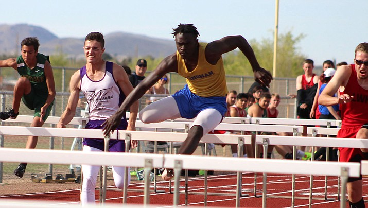 Kingman's Jamal Cash notched his eighth first-place finish in the 110 hurdles during the Havasu Last Chance meet. Cash ran a 16.19 for the Bulldogs. (Daily Miner file photo)