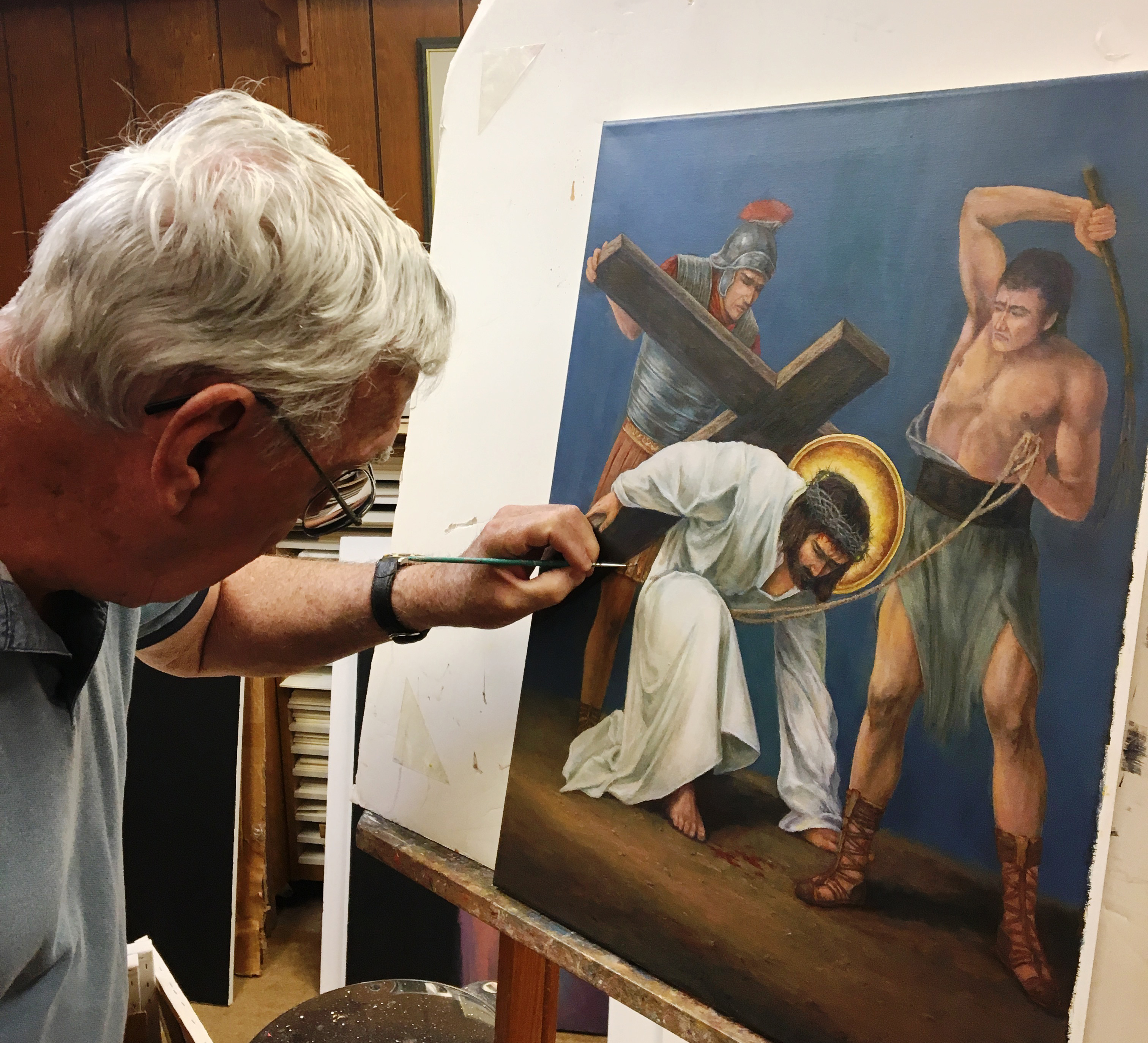Artist depicts Jesus' Stations of the Cross for local church