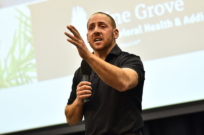 """Life is a gift, that is why they call it the present. Cherish it always,"" Kevin Hines, who is expected to talk at 6 p.m. Tuesday, April 23, in the Ruth Street Theater at Prescott High School. (Courtesy)"