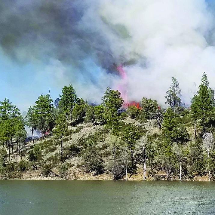 The Lynx Fire on Friday, April 19, 2019. (Monica Fabian/Courtesy)
