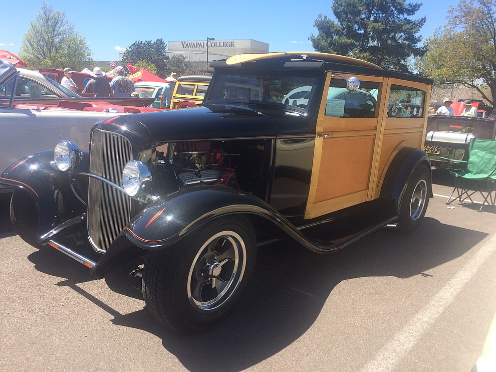 A 1932 Ford Phantom Woody  found at the eighth annual Cruise in for the Vets car show at Yavapai College Saturday, April 20. (Jason Wheeler/Courier)