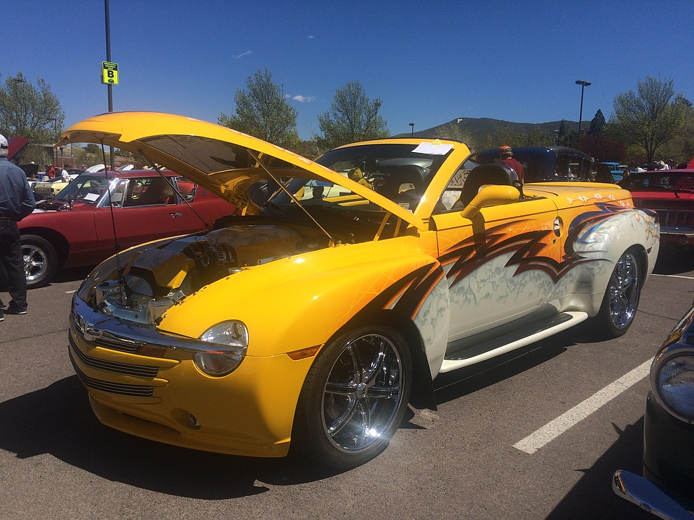 A 2005 Chevrolet SSR  found at the eighth annual Cruise in for the Vets car show at Yavapai College Saturday, April 20. (Jason Wheeler/Courier)