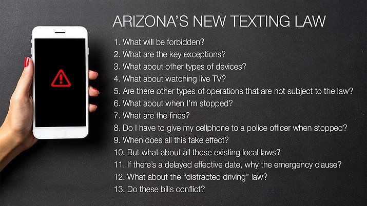 What you need to know about Arizona's new texting law.