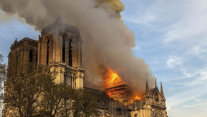 Indian country has sharp reaction to burning of Notre Dame Cathedral