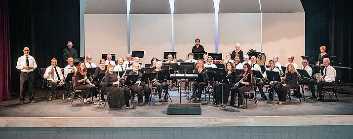 The Cottonwood Community Band, under the direction of Dr. Sy Brandon, will perform two May concerts featuring music from stage and screen, Sunday afternoon, May 5, at the Phillip England Center for the Performing Arts in Camp Verde, and again on Sunday afternoon, May 19, at the Mingus Union High School auditorium. Courtesy photo