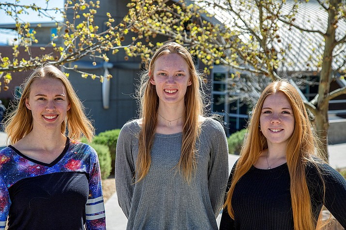 Rachel Rise, left, Renee Spear, center, and Julia Mihaylov have been recognized by the National Science Foundation Graduate Research Fellowship Program. (Embry-Riddle/Courtesy)