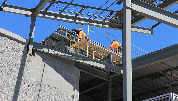 Construction continues at the Williams Health Clinic