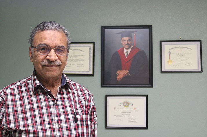 Dr. Azam Khan of the Arizona Institute of Medicine and Surgery aims to provide the Kingman community with a multitude of services in a family-oriented atmosphere. (Photo by Travis Rains/Daily Miner)