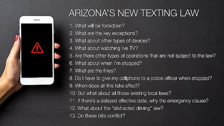 13 things you need to know about Arizona's new texting law