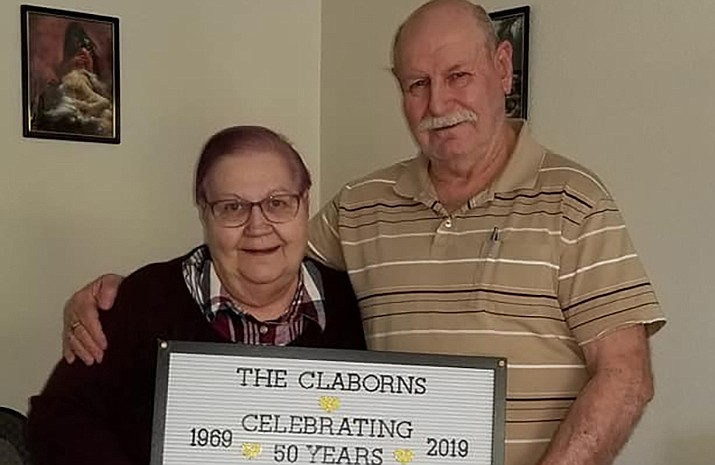 Katheran and Jerry Claborn celebrated their 50th anniversary April 11. They had a party thrown for them April 12, and it was a night filled with dancing. (Courtesy photo)