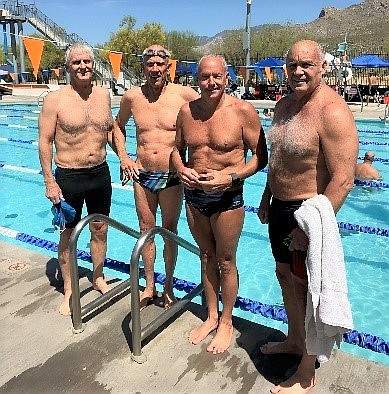 Members of the Prescott Masters Swim Team. (Courtesy)