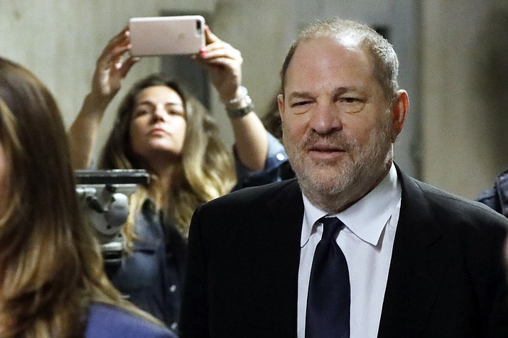Harvey Weinstein leaves State Supreme Court in New York for a lunch break, Friday, April 26, 2019. (Richard Drew/AP)