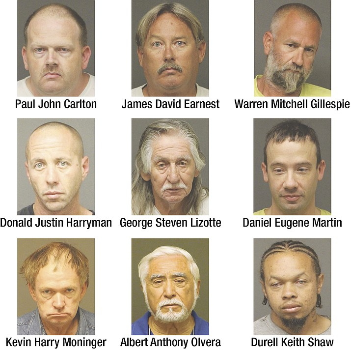 Nine were arrested during a Mohave County Sheriff's Office sting.