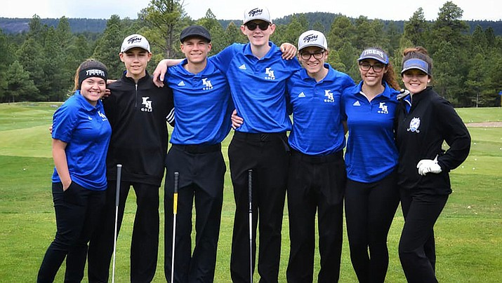 The Academy golf team had a busy week that featured two dual matches and a tournament. The Tigers finished first Thursday in Williams. (Courtesy)